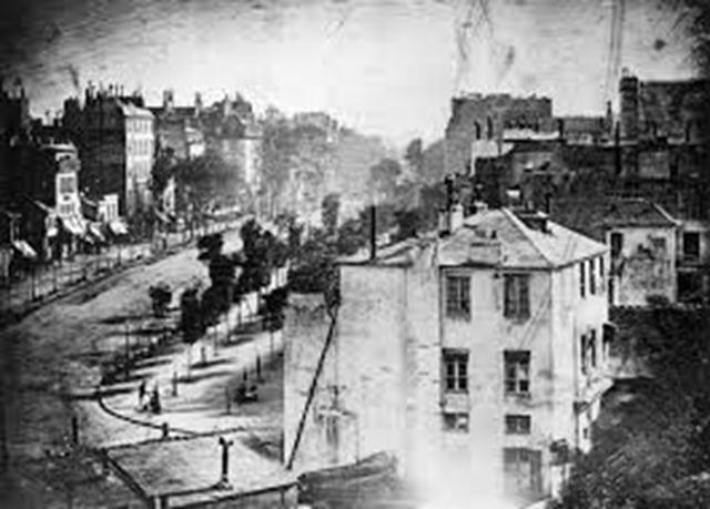 História da Fotografia - Daguerre - Boulevard du Temple - Paris - 1838