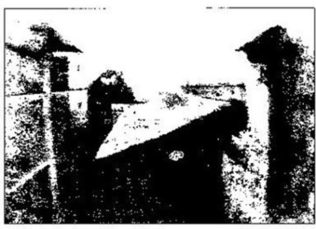 História da Fotografia - Joseph Niepce - Vista da Janela do Estúdio