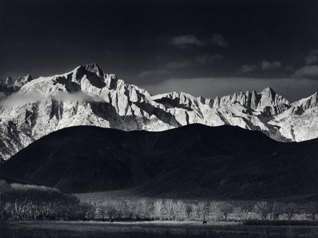Ansel Adams - Winter Sunrise - Sierra Nevada from Lone Pine - New Mexico - 1937